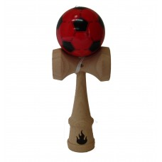 Black/Red Soccer Kendama