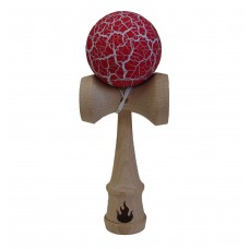 White/Red Crackle Kendama