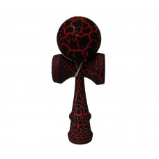 Full Print Red/Black Crackle Kendama