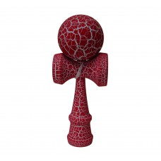 Full Print White/Red Crackle Kendama